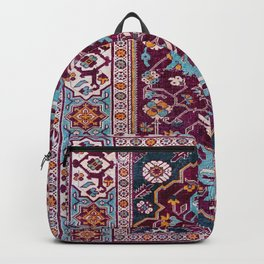 Romanian  Antique  Double Niche Carpet Print Backpack