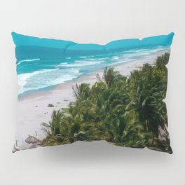 Waves and Palms Pillow Sham
