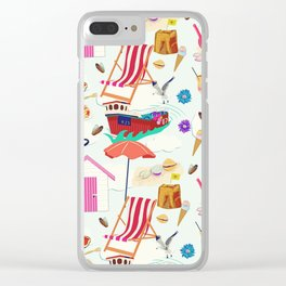 Seaside Extravaganza Clear iPhone Case