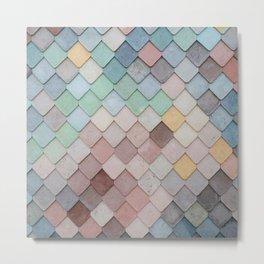 Pastel Tiles Metal Print