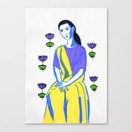 Indian inspired lady Canvas Print