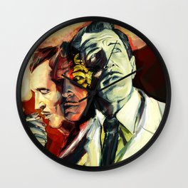 The Many Faces of Vincent Price Wall Clock