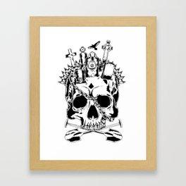 A Grave Mind Framed Art Print