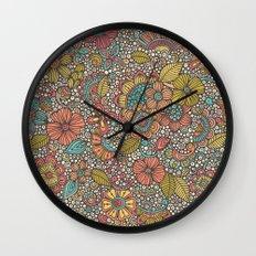 Doodles Garden Wall Clock