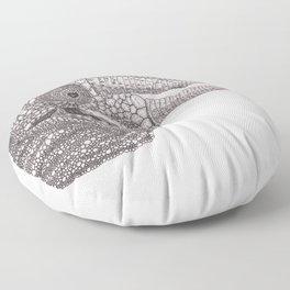 Happy Chameleon (pen and ink) Floor Pillow