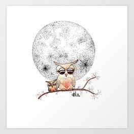 Owl's Sun Art Print