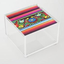 Pink Serape  Acrylic Box