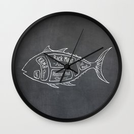 Tuna Butcher Diagram (Seafood Meat Chart) Wall Clock