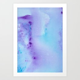 Abstract Watercolor Art Blue And Purple Modern Painting Art Print