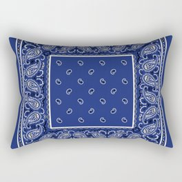 Classic Royal Blue Bandana Rectangular Pillow