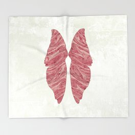 Abstract Butterfly Wings Design Throw Blanket
