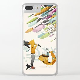Spring Bullets Clear iPhone Case