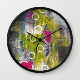 Nine White Circles Wall Clock