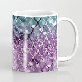 Mermaid Scales on Aqua Purple MERMAID Girls Glitter #2 #shiny #decor #art #society6 Coffee Mug