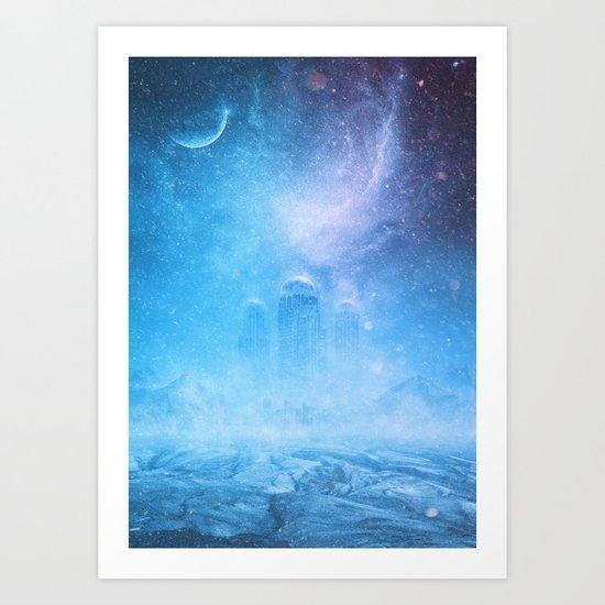 Glacial City Art Print