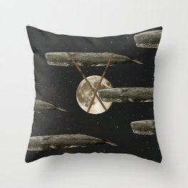Spacewhales Throw Pillow