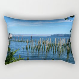 Columbia River Scene Rectangular Pillow