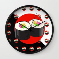 sushi Wall Clocks featuring Sushi! by Oceanic Inks