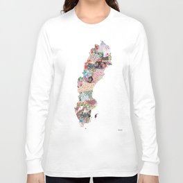 Sweden map Long Sleeve T-shirt