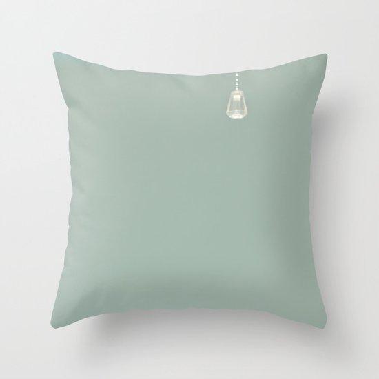 Lone drop Throw Pillow