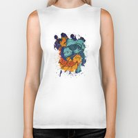 koi fish Biker Tanks featuring Koi Fish by Spooky Dooky