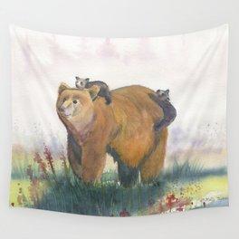 Bear Family Wall Tapestry