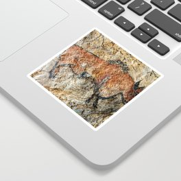 Cave painting in prehistoric style Sticker