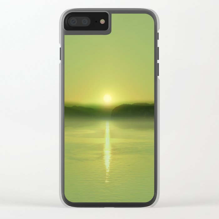 Pastel vibes 51 Greenery Clear iPhone Case