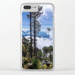 Volcano Tacana Descent Clear iPhone Case