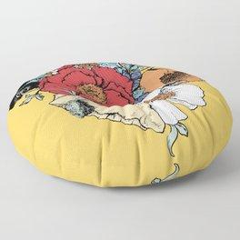 Bouquet Shield Floor Pillow