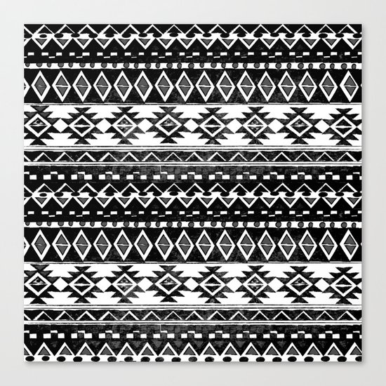 TRIBAL MONOCHROME Canvas Print