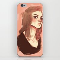 allison argent iPhone & iPod Skins featuring argent by shauna ok