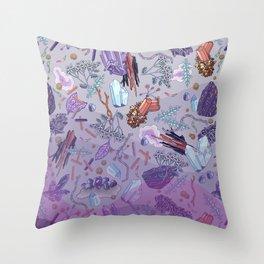 violet mountain dreams Throw Pillow