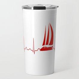 Sailing Heartbeat Travel Mug