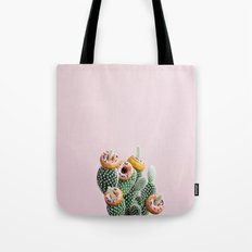 Donut Cactus In Bloom Tote Bag