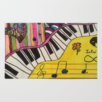 piano Area & Throw Rugs featuring Piano by Sydsart1259
