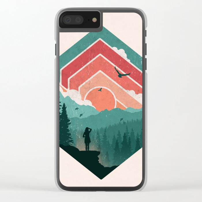Divided Sky Clear iPhone Case