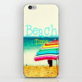 Beach time #3 iPhone Skin