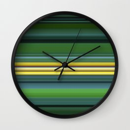 The Yellow Line Wall Clock
