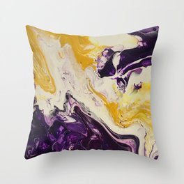 """""""Geaux Tigers"""" by Laurie Ann Hunter Throw Pillow"""