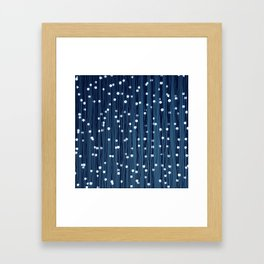 Dance of the Fireflies in Early Evening Framed Art Print