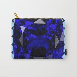 BLUE  SAPPHIRE DECEMBER GEM BIRTHSTONE MODERN ART Carry-All Pouch