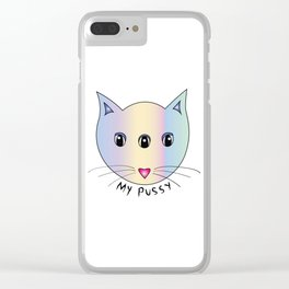 My pussy Clear iPhone Case