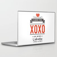 valentines Laptop & iPad Skins featuring Valentines Day by cat&wolf