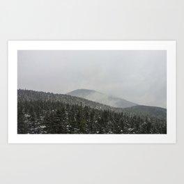 Snowy Mountaintops Art Print