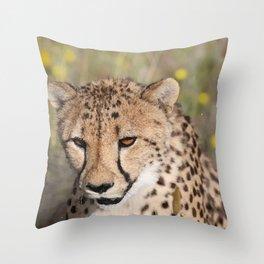 Cheeta Head looking Throw Pillow