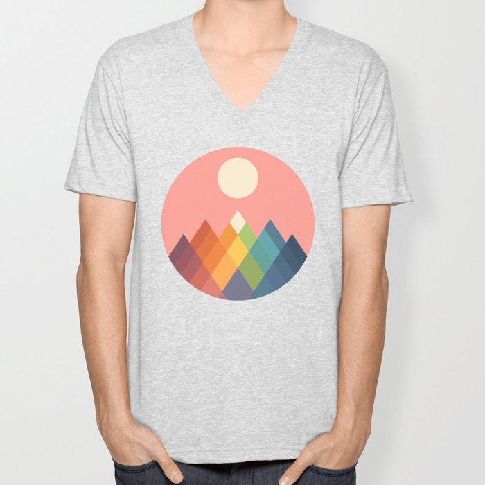 Rainbow Peak Unisex V-Neck