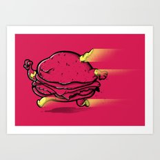 The Real FAST Food Art Print
