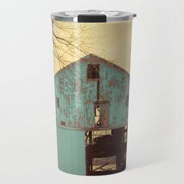 Rustic Teal Barn A454 Travel Mug