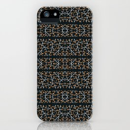 Floral Lace Stripes Print Pattern iPhone Case